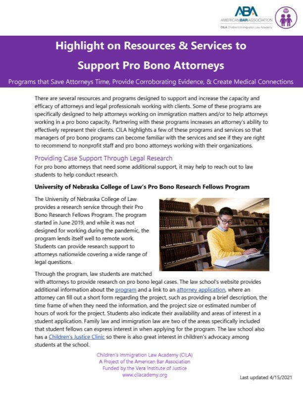 Image for 2021.04.15 Highlight on Resources and Services to Support Pro Bono Attorneys